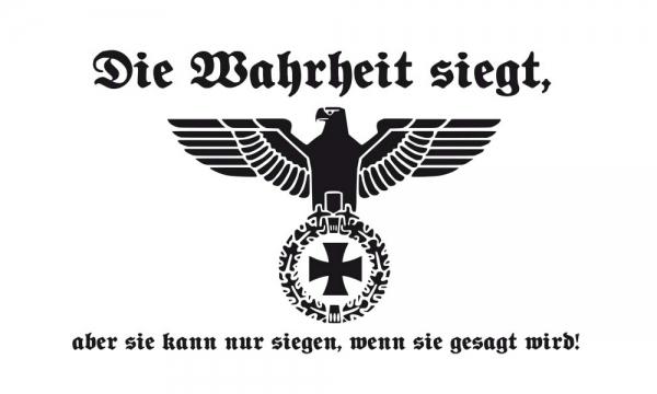 DH40 - weisse Deutschland Flagge - Wahrheit siegt 90 x 150cm