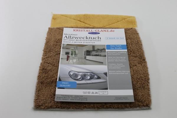 Kristall-Glanz Spültücher Premium 2er braun/ocker