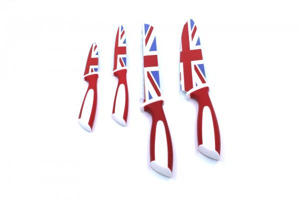 Genius Messer-Set mit Flaggen-Design 4 tlg. Großbritannien