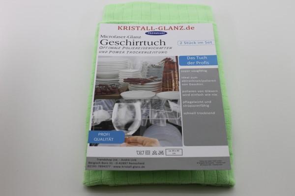 Kristall-Glanz Geschirrtücher Premium 2er grün