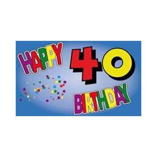 Geburtstag 40 Jahre Fahne (V13)