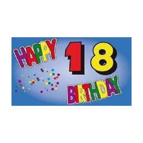 Geburtstag 18 Jahre Fahne (V11)