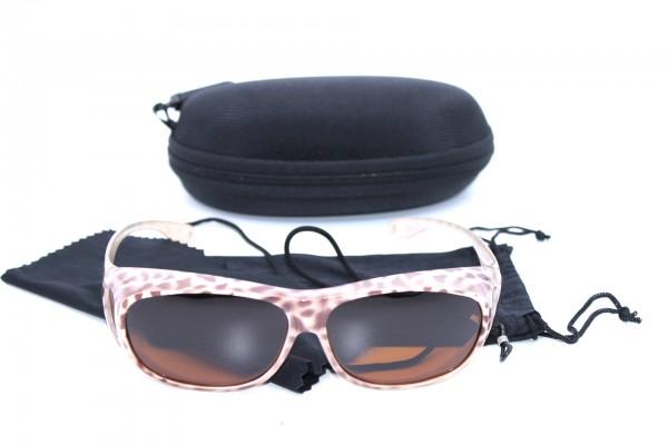 Überbrille - Sonnenbrille Polarisierend Leo Beige Flexbügel