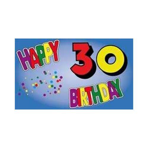 Geburtstag 30 Jahre Fahne (V12)