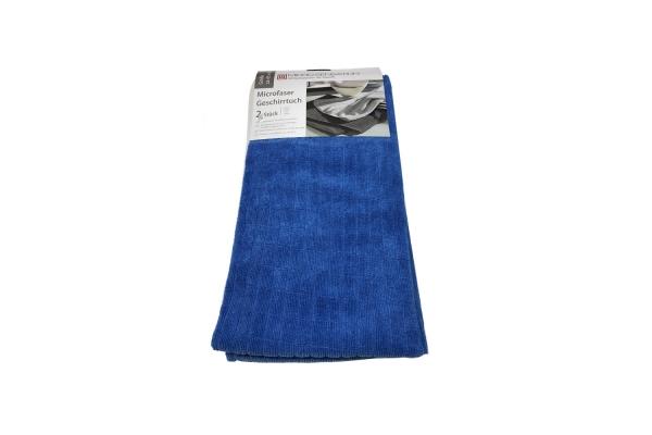 Micro Sensation Microfaser Geschirrtuch Handtuch 65x45cm - 2er Blau