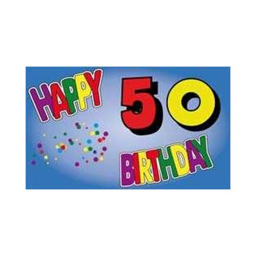 Geburtstag 50 Jahre Fahne (V14)