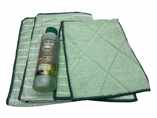 Bambus-Kristall Profi-Küchentücher + Reiniger Set 5tlg.