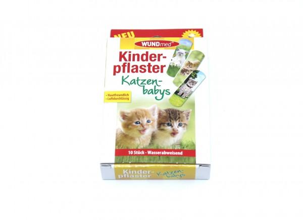 WUNDmed Kinderpflaster Katzen 10 Stück wasserabweisend