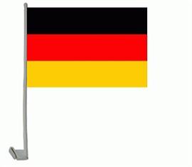 Deutschland Autofahne ca. 20 x 30 cm - 2er Set