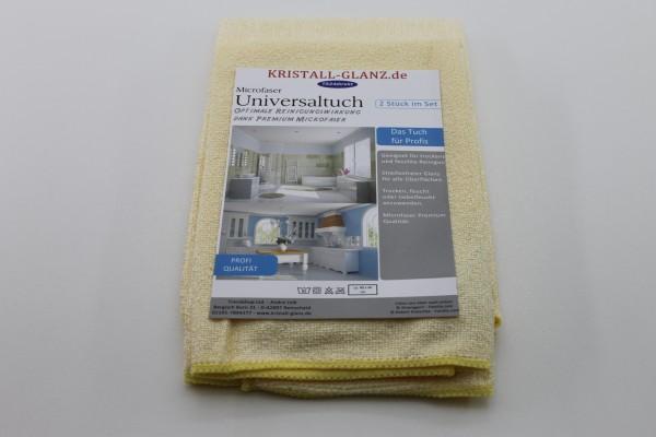 Kristall-Glanz Universaltücher Premium 2er gelb