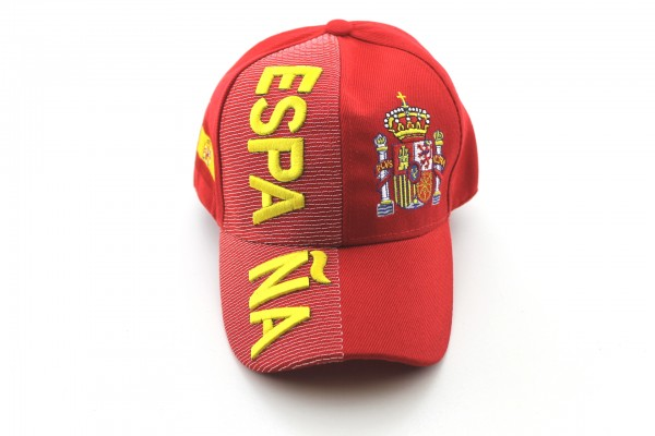 EM/WM Baseballcap Spanien Rot 3D Optik