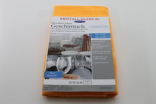 Kristall-Glanz Geschirrtücher Premium 2er orange