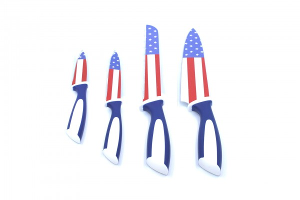 Genius Messer-Set mit Flaggen-Design 4 tlg. USA