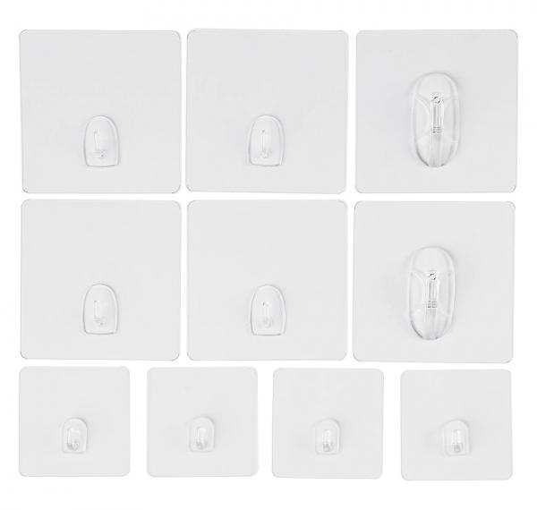 Magische Haken im 10 teiligen Set - 3 Größen im Set