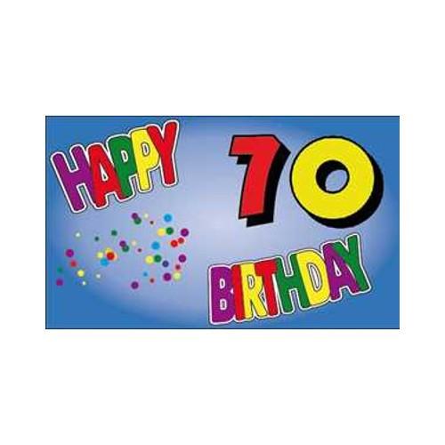 Geburtstag 70 Jahre Fahne (V15)