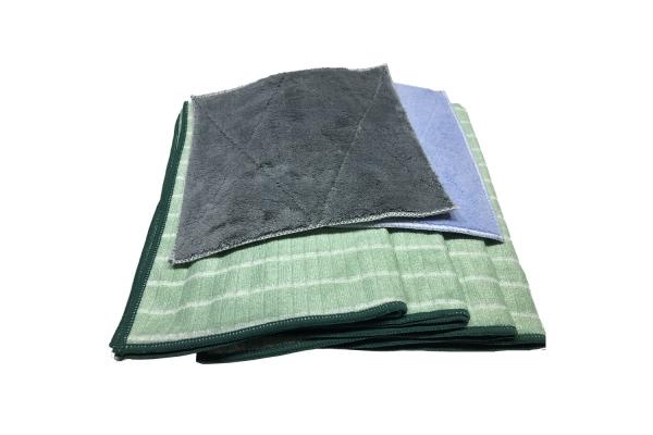 Bambus Kristall-Glanz Geschirrtücher 4er + Spültücher 2er