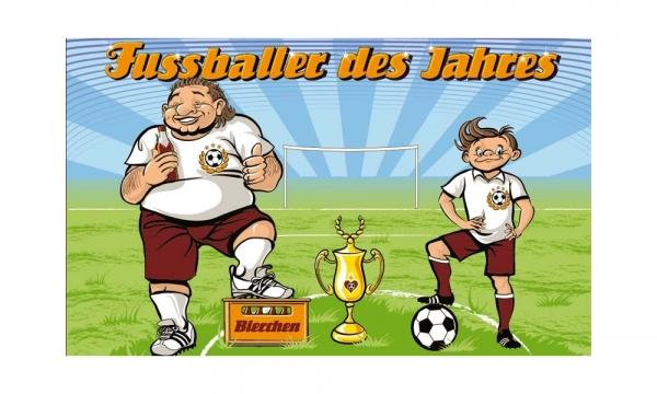 Fussballer des Jahres Fahne (V32) - 90x150cm