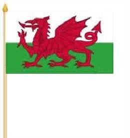 Wales Stockfahne