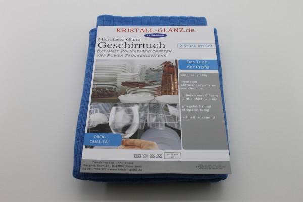 Kristall-Glanz Geschirrtücher Premium 2er blau