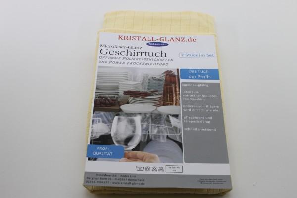 Kristall-Glanz Geschirrtücher Premium 2er gelb