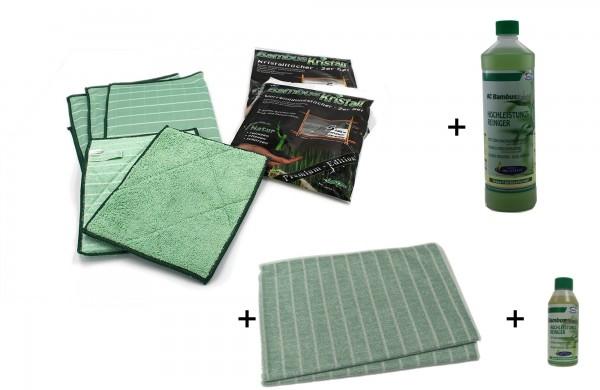 Bambus-Kristall Fenster & Geschirrtücher Set