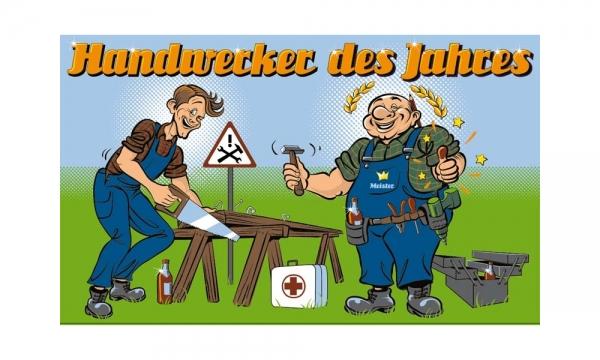 Handwerker des Jahres Fahne (V24) - 90x150cm