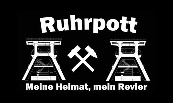 Ruhrpott - Meine Heimat, mein Revier 90x150cm (F68)