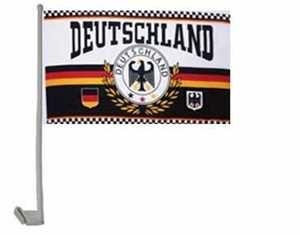 2er Set Deutschland Autofahne Lorbeer