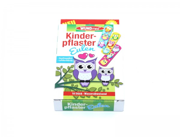 WUNDmed Kinderpflaster Eulen 10 Stück wasserfest