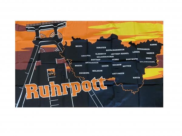 Ruhrpott - Städtenamen Flagge 90x150cm (F29)