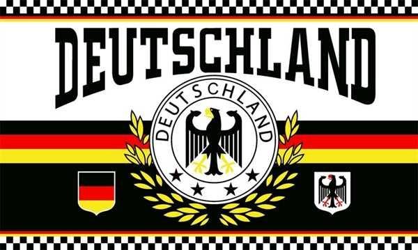 Deutschland 2 Lorbeerkranz 4 Sterne 90x150 cm