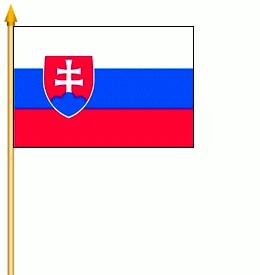 2er Set Slowakei Stockfahne